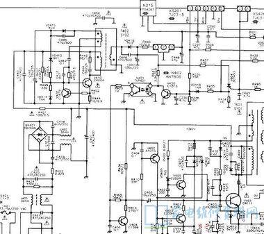 康佳T2983X彩电电源电路原理图图片