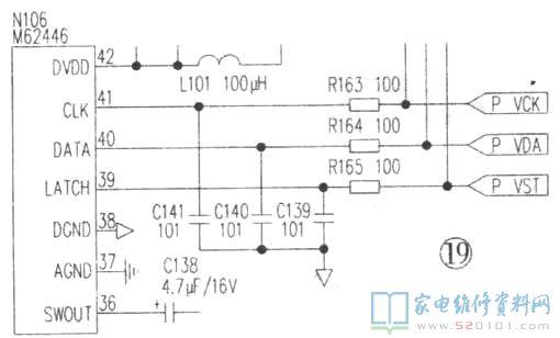 步步高av功放系统控制与显示电路故障维修