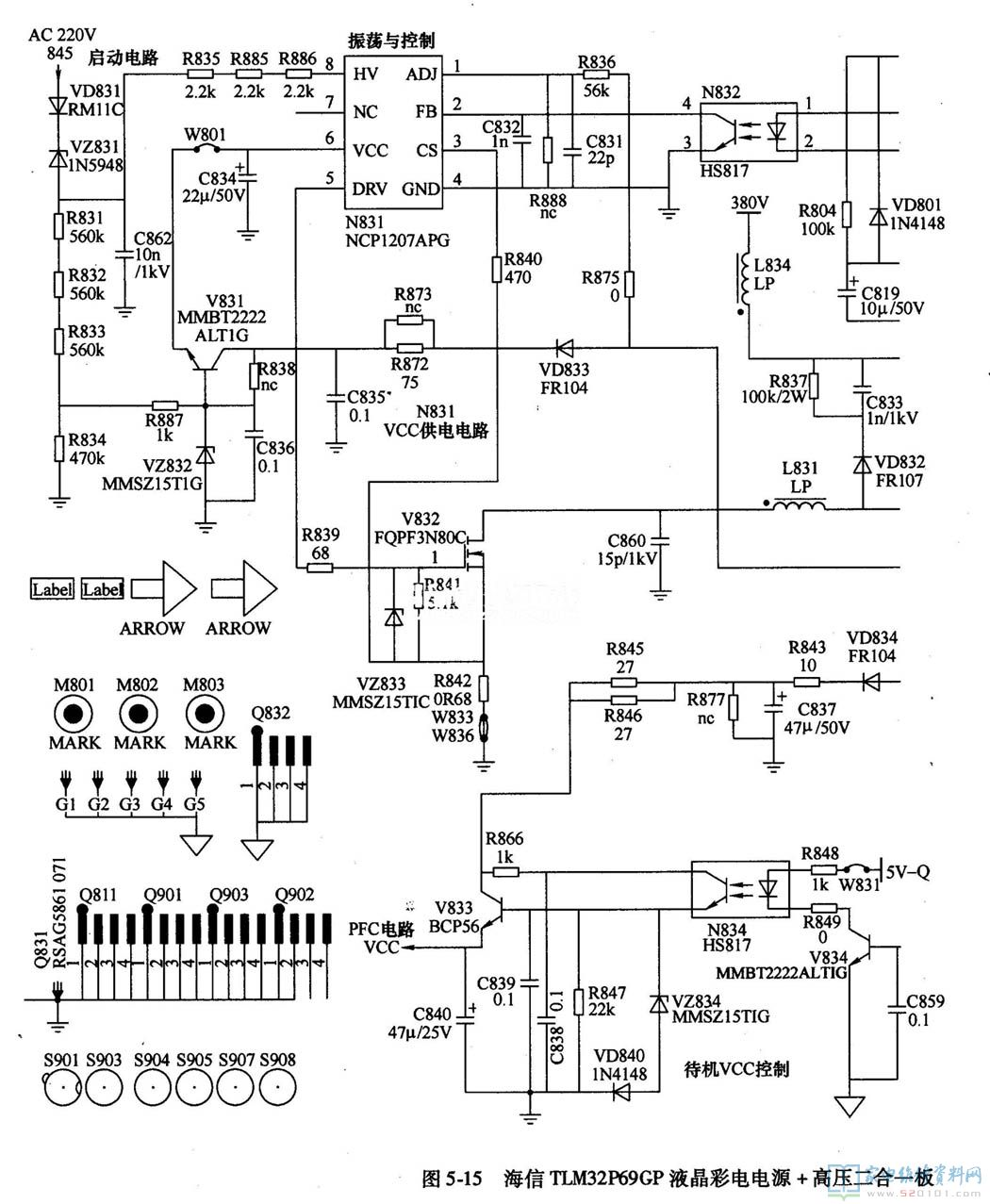 和电流调节单元调整和比较放大转换成控制电压加到pfc调制器的反相端