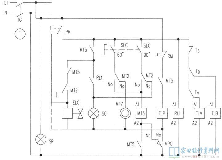商用洗碗机电路原理分析图片