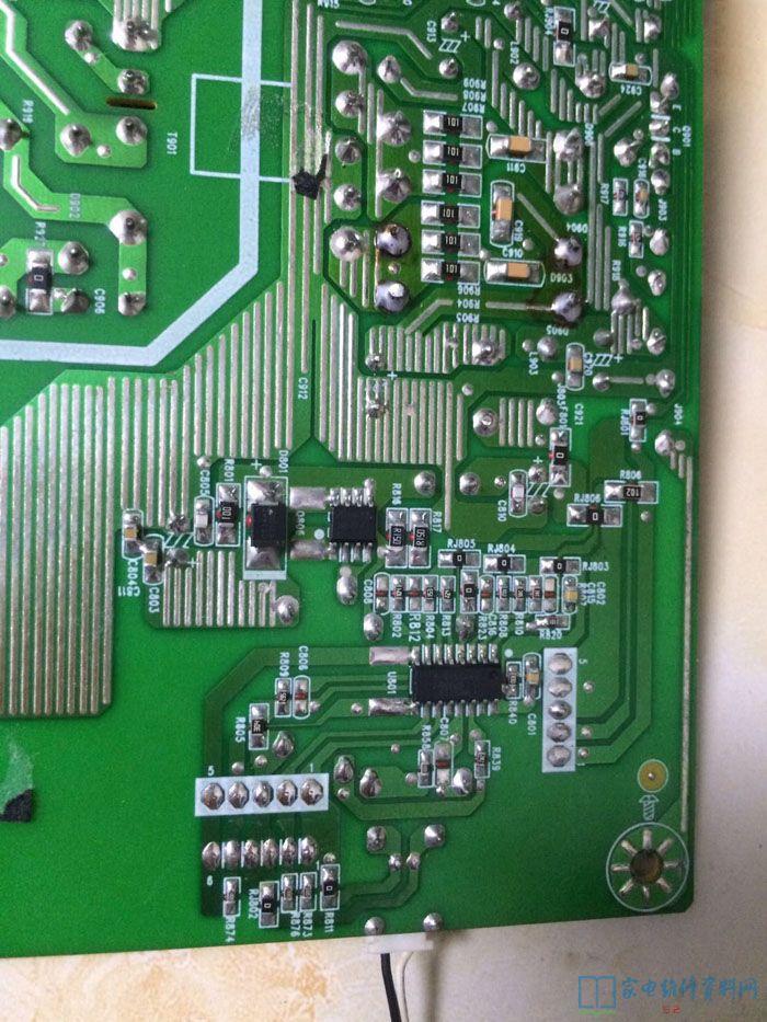 42寸电视机功率_TCL 19寸液晶电视黑屏故障维修过程 - 家电维修资料网
