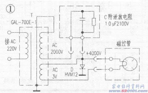 格兰仕电磁炉维修_格兰仕WP700型微波炉一股焦臭味的检修(图) - 家电维修资料网