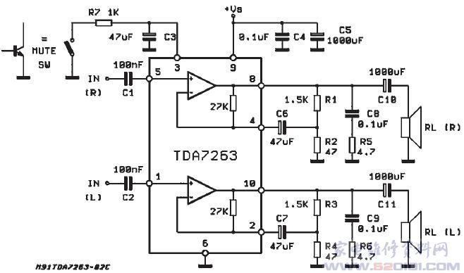 Усилители мощности (УНЧ) на микросхемах, схемы самодельных ...