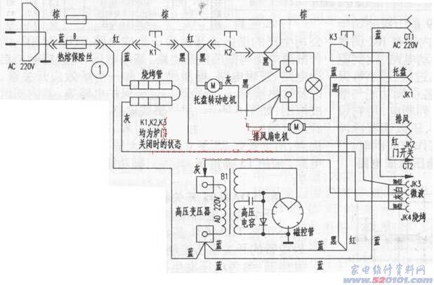 格兰仕电磁炉维修_格兰仕WD800BS电脑烧烤微波炉接上电源后一切无作用(图) - 家电 ...