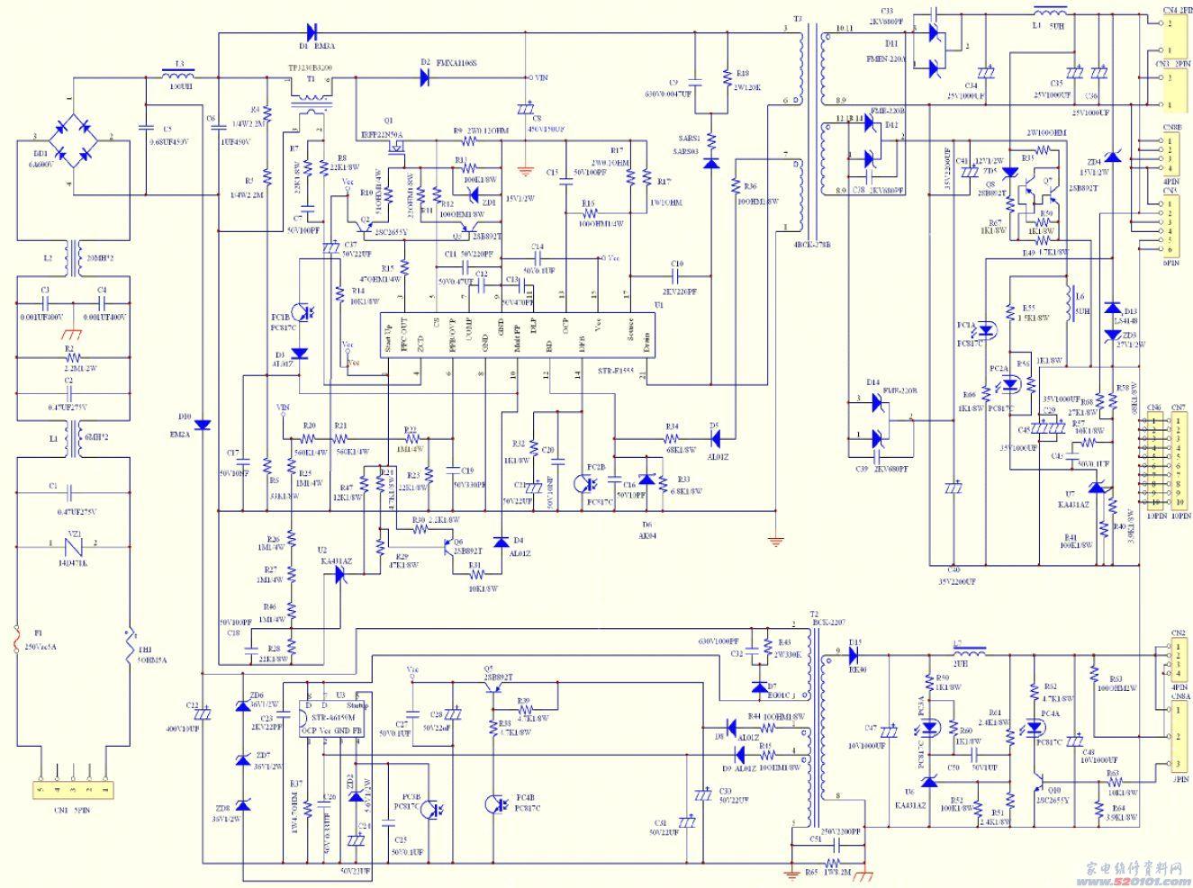 创维29tf8000电路图