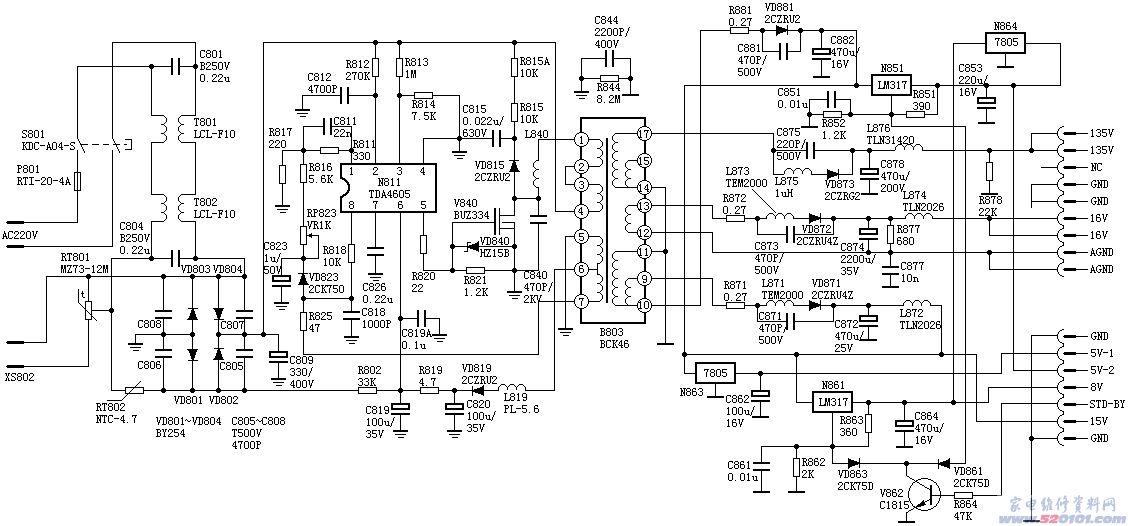 长虹ch-10电源电路图 29