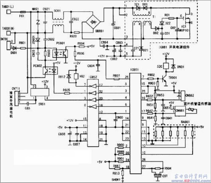 三菱msh-j09nv空调电脑板原理与故障维修
