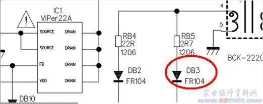 tcl l32m61液晶电视(pw37c电源板)灯亮不开机