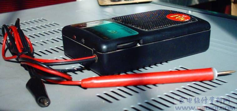 小鳄鱼夹焊一段接线,接到音量电位器接地端