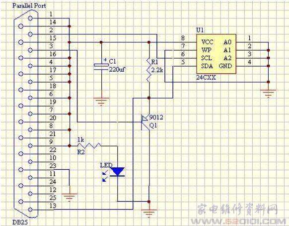 rs485九针并口接线图