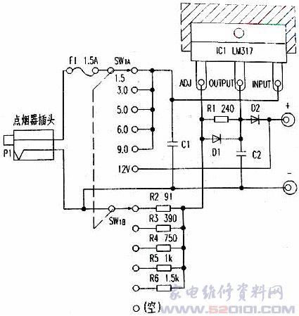 12v转5vdc一d转换器电路图