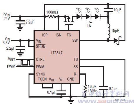 lt3517典型应用电路