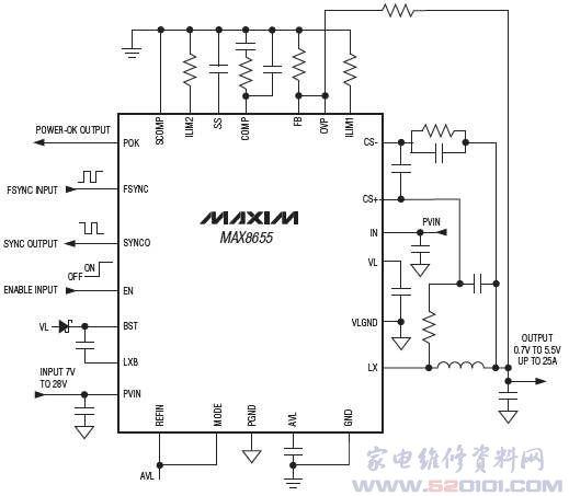 max8655典型应用电路