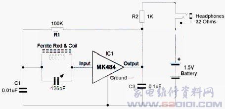 mk484微型收音机集成电路