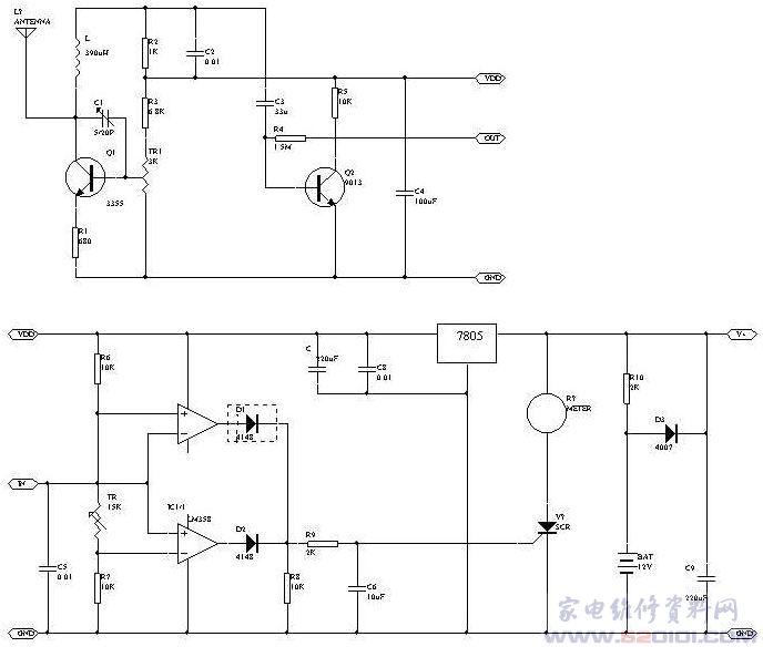 3脚可调电阻接线