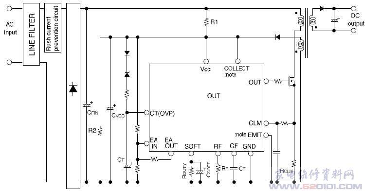 概述:M62213P/FP被设计成一个通用的高速PWM控制IC。这种小型10引脚封装,包含了许多功能和保护电路,允许简单的外围电路,并紧集设计。此IC可以操作高速开关(700kHz的最大值)与高速PWM比较器和电流限制电路。 一、M62213P引脚功能  二、M62213P功能和特性 •700kHz的操作MOS-FET •输出电流Io=1A •图腾柱输出 •定时器类型锁存保护电路具有OVP •软启动运行是可能的(与死区时间控制) •内