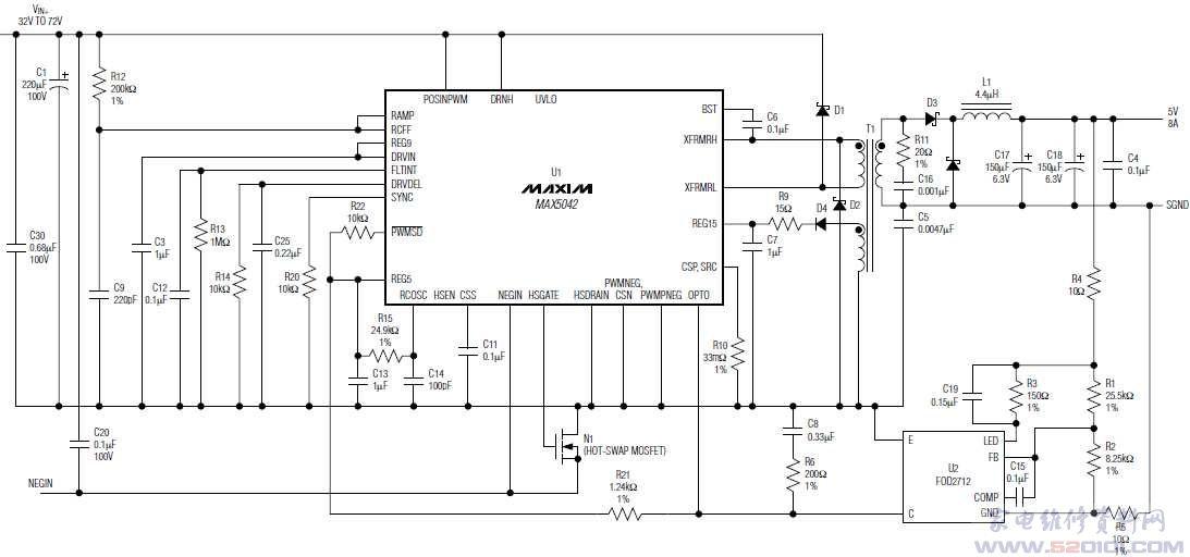max5042典型应用电路