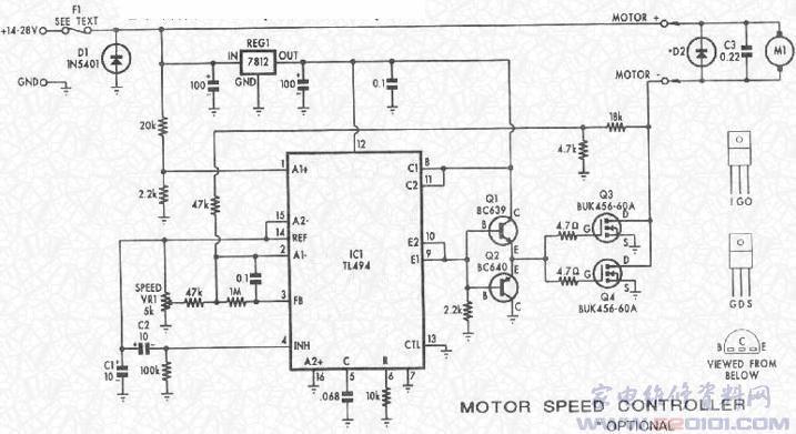 用tl494制作直流电机调速电路