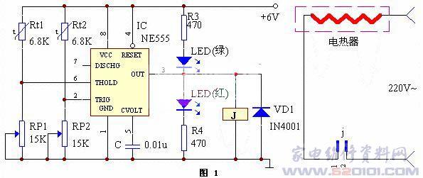 恒温控制器由热敏电阻rt1