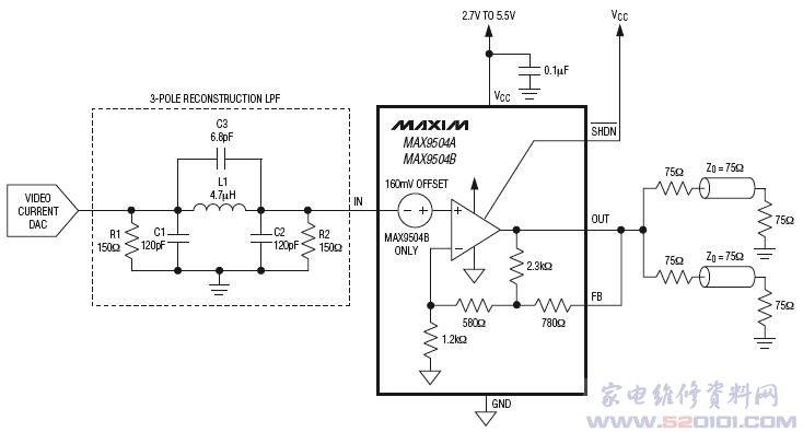 max9504典型应用电路