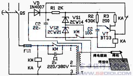 电焊机自动控制电路