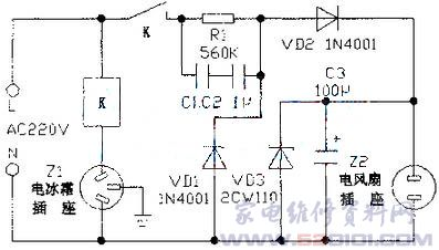 k无电流通过继电器线圈