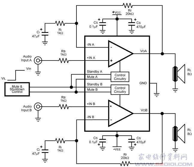 立体声音频功率放大器lm4730