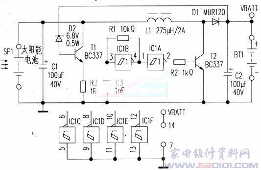 太阳能充电器电路
