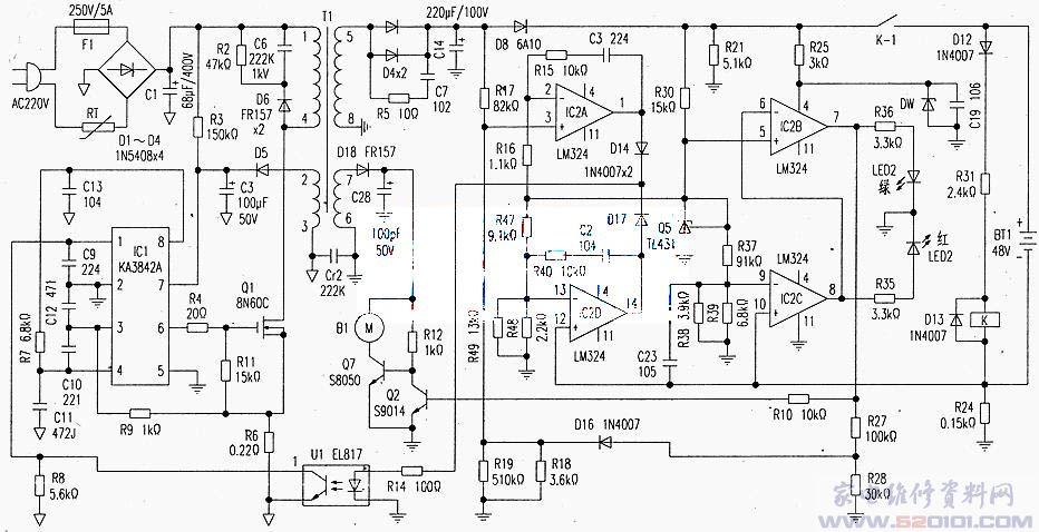 科斯达电动车充电器电路原理图