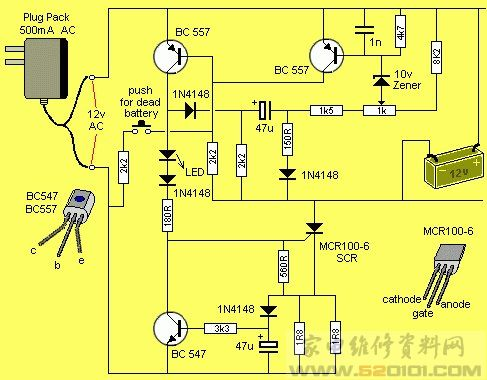 铅酸电池充电器电路