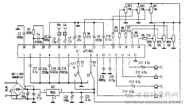 该芯片还预设音乐厅,电影院及模拟立体声三种声场