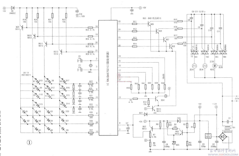 水仙全自动洗衣机控制电路简析