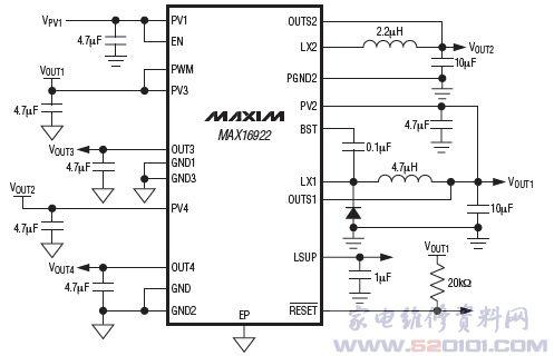 max16922典型应用电路
