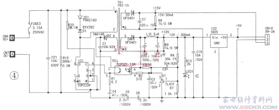 海信KFR-2608GW/BP(KFR-2501GW/BP、KFR-2618GW/BPR)系列空调在国内市场占有率较大,笔者将维修经验总结如下,供大家参考。注意:该系列机型室外机采用的是热底开关电源,检修时一定注意不要用手直接接触元器件,以免触电。 [例1]制热时室内机风机不转,室外机能启动 通电后以制热状态遥控开机,运行灯点亮说明压缩机已经开 始工作,过几分钟后风机不转。换制冷、送风状态风机运转正常。 分析与检修:在其他状态下风机能够运转,说明风机控制电路正常;在制热状态下风机不转,分析是盘管温度采集电