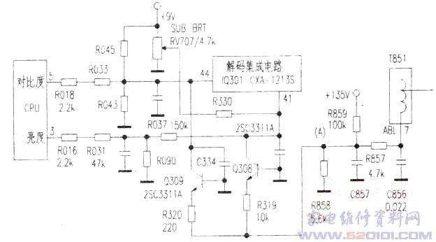 索尼kv-2965mt彩电呈黑屏故障检修