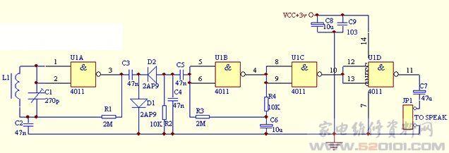 调频收音机天线使用耳机线的接线方法