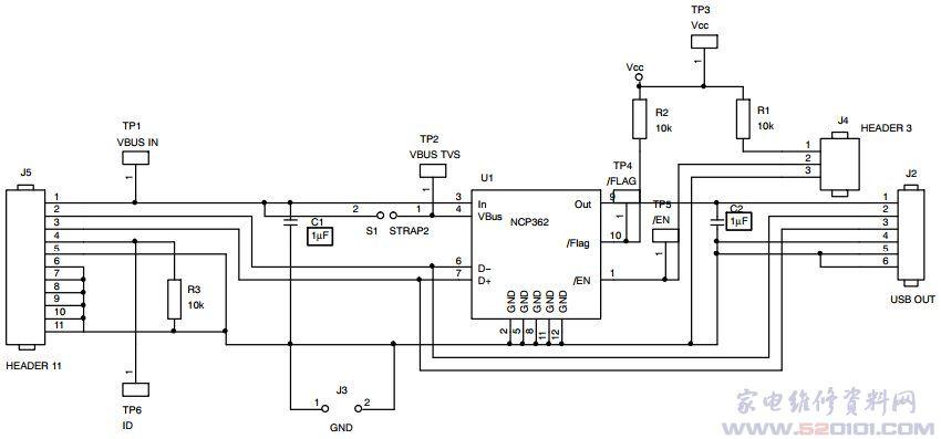 概述:NCP362采用2mmx2.5mmx0.55mmDFN、无铅、符合RoHS指令的10脚封装,具备能够处理500毫安(mA)电流的集成功率MOSFET,为下行USB端口提供+20伏特(V)的前端保护。可在电压瞬态超过内部设定为5.675 V的内部过压阈值(OVLO)时,使VBUS线路开路。如果特定应用需要不同阈值,还能采用金属调整(metal tweak)来改变这阈值。提供OCP,如果下行VBUS的负载超过750 mA,内部MOSFET就会开路,且支持USB端口 500 mA的持续电流。这电流钳位值也