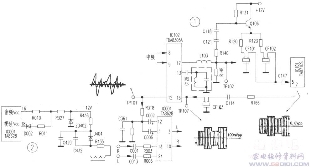tcl 2986z彩电故障检修两例