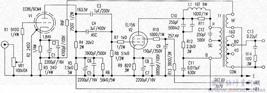 a类单端功率放大器
