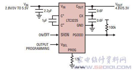 5v的输入电源|稳压器将两节串联的超级电容器充电至