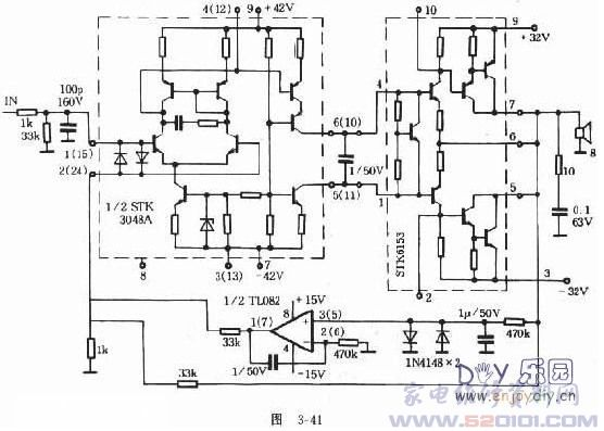 STK6153功放电路制作