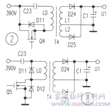 输出16v电压送到ic3(ka7500b)集成电路12脚电源端