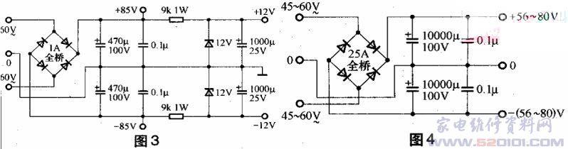 由stk3152Ⅲ组成的300w功放电路