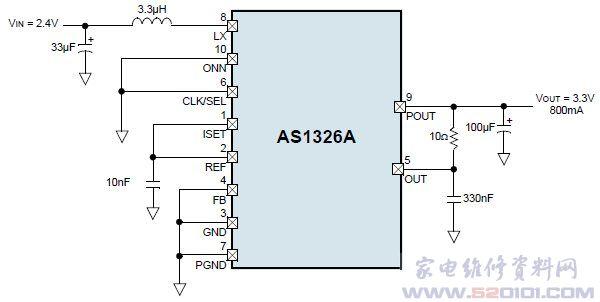 1mhz大电流低电压升压转换器as1326