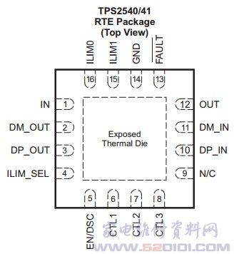 usb充电端口的电源开关电路tps2540