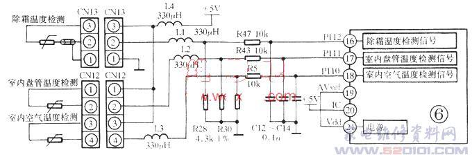 家用空凋器控制方式有机械式控制和电子板控制两种。电子板控制比机械式复杂得多。电子控制板(简称电控板、电脑板)在空调控制系统中的作用和人的大脑一样,通过接收到的各种电信号,用微处理器(cPU)进行处理,然后发出相应的执行信号,使空调器根据人的正确指令实现制冷或制热,同时在室内机上用发光二极管或液晶作出显示(如美的、科龙牌)。目前分体式空调器电子控制板以仿松下、东芝、三菱机心较多,它的控制结构有电源部分、红外遥控与接收部分、显示部分、执行部分、信号检测部分、控制部分、振荡电路及复位电路,功能有三分钟延时、睡眠