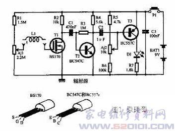 npn共射极放大电路示波器图