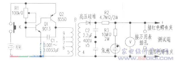 五端稳压器接线图