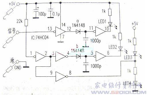 led光照检测器电路图