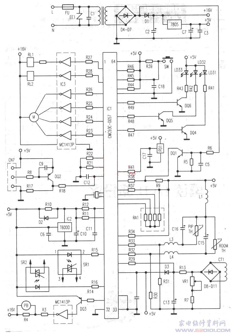 海尔空调控制电路原理图